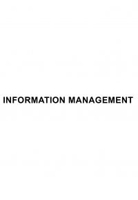 Information management a consolidation of operations...