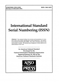 International standard serial numbering-1