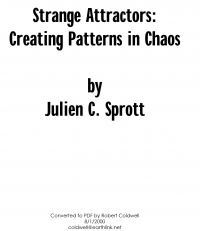 Strange Attractors Creating Patterns in chaos