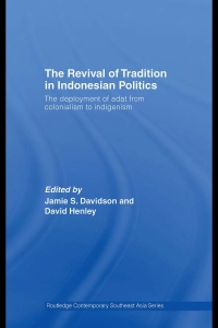 The revival of tradition in Indonesian politics