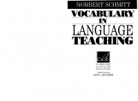 Vocabulary in language teaching