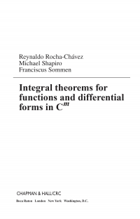 Integral theorems for functions and differential...