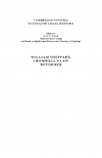 William Sheppard, Cromwell's law reformer