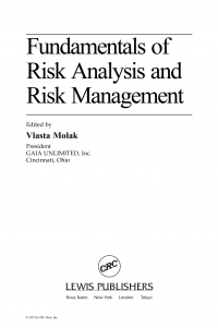 Fundamentals of risk analysis and risk ...