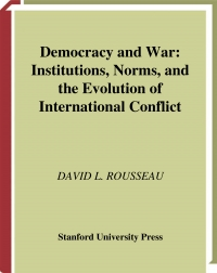 Democracy and war  institutions, norms...