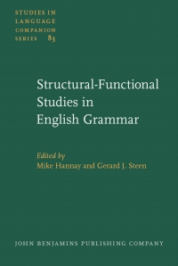 Structural-functional studies in English grammar...