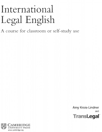 International legal English  a course for ...