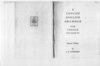 A concise English grammar for foreign...