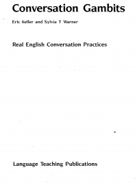 Conversation gambits  real English conservation ...