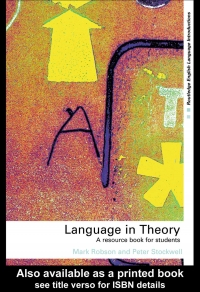 Language in theory a resource book for ...