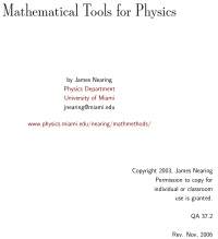 Mathematical tools for physics James Nearing